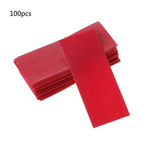 FATTERYU Schrumpfschlauch, 100 Stück, flach, PVC, für 1 x 18650 Akku Schrumpffolie 5