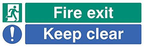 Schild 'Fire Exit Keep Clear, Sav',...