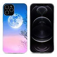 カラフルな空の夜の風景 iPhone 12&iPhone 12 Pro&iPhone 12Pro Max&iPhone 12 miniと互換性のあるクリスタルクリアTPUケース、アンチイエロー、保護耐衝撃落下保護ケース