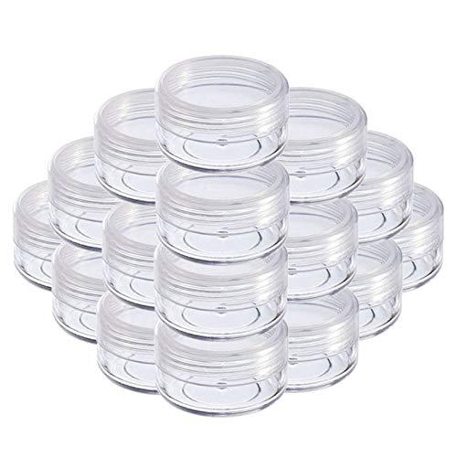 Geteilte Flasche 20 STÜCKE 2G 3G 5G 10G 15G 20G Tragbare Kunststoff Kosmetische Leere Gläser Klare Flaschen Lidschatten Makeup Creme Lippen Balsam Container Töpfe Mini-Flaschen