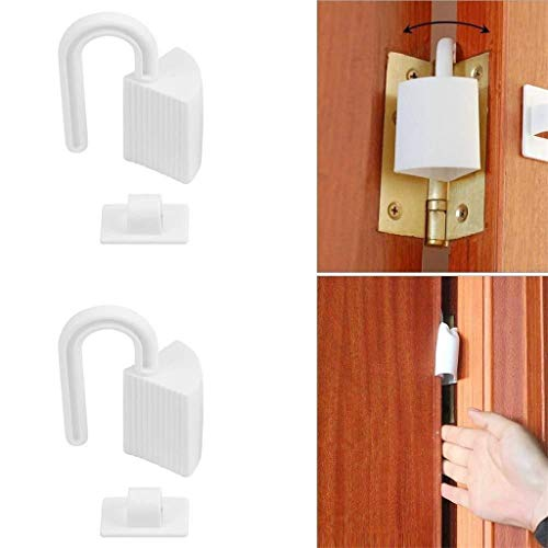 ☀ Dergo ☀Baby Door Safe Stopper,Safe Baby Kids Proofing Safety Finger Pinch Hinge Door Guard Stopper Supplies