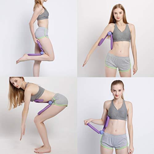 Fitness-Werkzeug für Oberschenkelmuskulatur, Bodybuilding, Expander, Arm- und Beintrainer für Zuhause, Fitnessstudio, Yoga, Frauen und Kinder, violett
