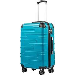 COOLIFE Hard Shell Case Rolling Case Verbrede bagage (grote koffer alleen uitbreidbaar) ABS materiaal met TSA Lock en 4 wielen (Turquoise Blue, Handbagage)*