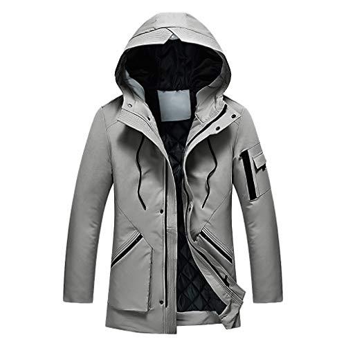Beonzale Herren Hoodie Winter Mit Kapuze Warm Fleece Zipper Jacke Hoodie Der Art- Und Weisemänner Thermischer Spitzenmantel
