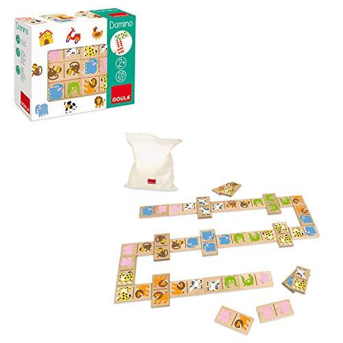 Animales Legespiel Learning Game Domino Domino Madera Madera Juguetes de Madera Kinderland