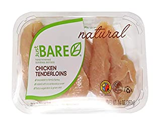 Just BARE Natural Fresh Chicken Tenders | Antibiotic Free | Boneless | Skinless | 0.88 LB
