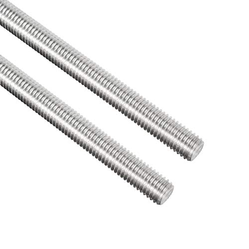 Awclub 2pcs M10 x 250mm Fully Threaded Rod, 304 Stainless Steel Long Threaded Screw,Right Hand Threads for Anchor Bolts,Clamps,Hangers and U-Bolts