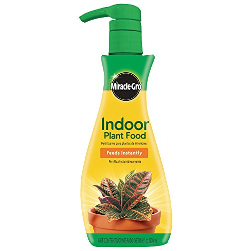 Miracle-Gro 1000551 Indoor Plant Food (Liquid), 8 oz, Feeds All Houseplants-Including Edibles-Instantly, 6-Pack