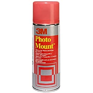 3M Photo Mount Spray Adhesive, Permanent - 400 ml, Clear