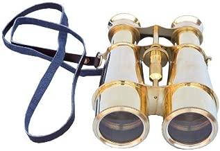 Hampton Nautical  Captain's Solid Brass Binoculars, 6
