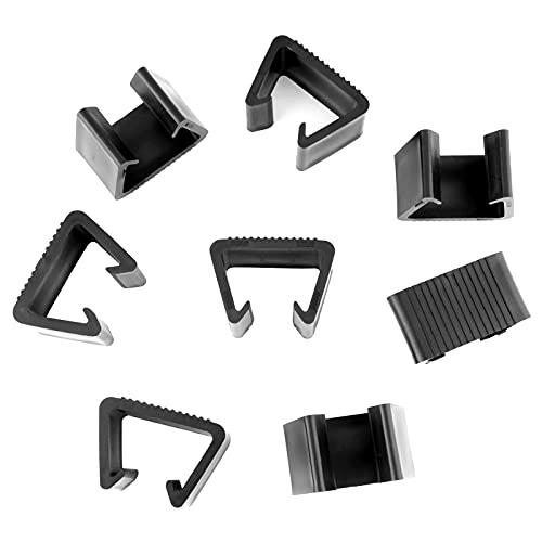 LUTER 8 Piezas Mimbre Clips para Muebles Plástico Clips para Sofá De Ratán Conector para Sofá Clips para Sujetadores para Patio Al Aire Libre (7.4x4x4.3cm)