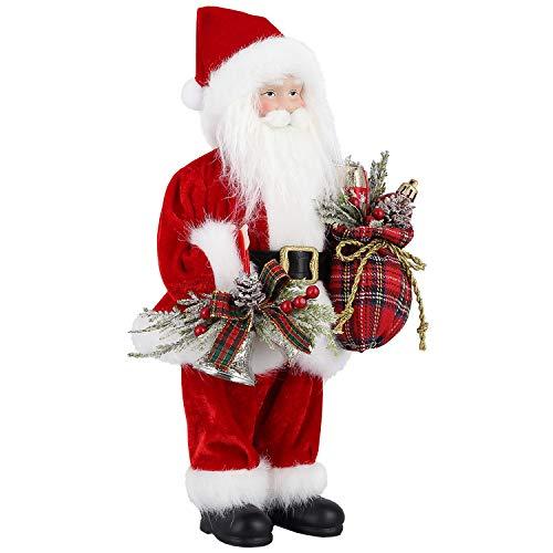 Zogin Natale Babbo Natale in Piedi Figura Decorazione Natalizia Ornamento Vacanze/Festa/Decorazione Domestica, 30 cm