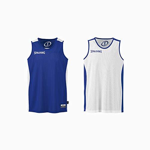 Spalding Herren Essential Reversible Shirt, royal/Weiß, XS