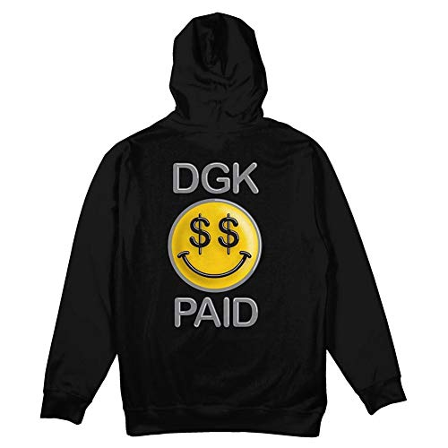 Unbekannt DGK Men's Happy Fleece Pullover Long Sleeve Hoodie Black XL
