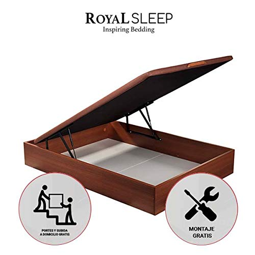 ROYAL SLEEP Canapé Abatible (150x190) de Madera con Gran Capacidad, T