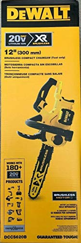De-Walt DCCS620B 20V MAX XR Compact 12 in. Cordless Chainsaw (Tool ONLY)