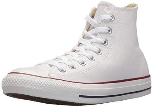 Converse Chuck Taylor All Star Leather High Top Sneaker, White Mono, 9 Women/7 Men