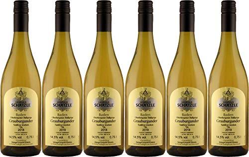 6x Grauburgunder *SL Baßgeige 2018 - Weingut Leopold Schätzle, Baden - Weißwein