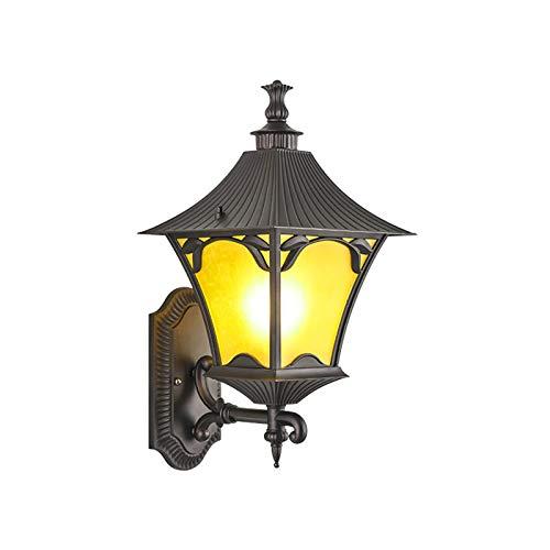 GYC Lámpara de Pared para Exteriores, Lámpara de Paisaje Retro China, Lámpara de Puerta de Pared, Lámpara de Pasillo LED para Exteriores, Lámpara de jardín de Estilo Europeo para Villa