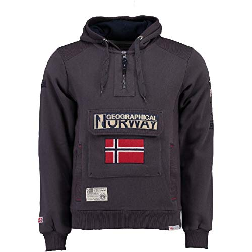 Geographical Norway Sudadera DE Hombre GYMCLASS A Gris Oscuro S
