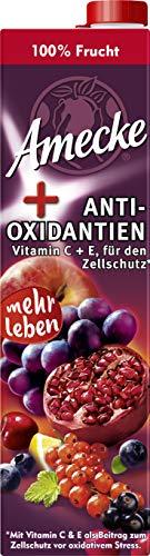 Amecke + natürliche Antioxidantien rot - 100% Saft, 6er Pack (6 x 1 l Packung)