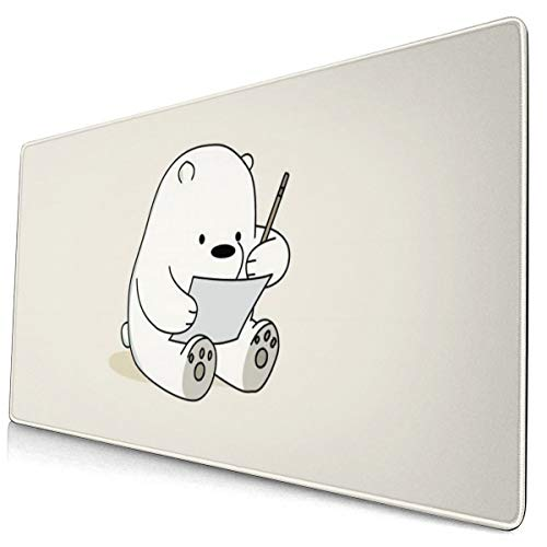 PinkBubble We Bare Bears (40) Mouse Pad Customized Gaming for Laptop and Computer Cute Design Desk Accessories Non-Slip Stitched Edges Waterproof
