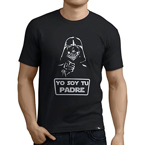 Tuning Camisetas - Camiseta Divertida para Hombre - Modelo Yosoytupadre, Color Negro- Talla M (0197-Negro-Yo-soy-tu-padre-M)