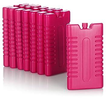 com-four® 8X Pack Froid pour Sac Isotherme - éléments réfrigérants pour glacière - Pack Froid pour la Maison et Les Loisirs - 220 ML (Rose)