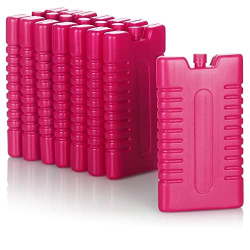 COM-FOUR® 8x coldpack voor koeltas - koelelementen voor koelbox - coldpack voor huishouden en vrije tijd - 220 ml (roze)