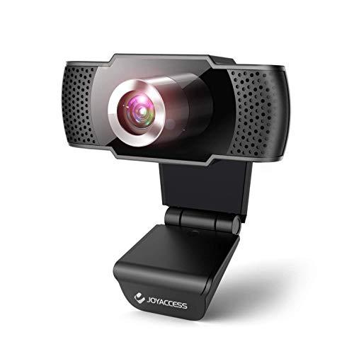 Webcam per PC con Microfono, Web Camera 1080P con Microfono Riduzione del Rumore, Vista Wide-Angle 105° per lo Streaming e le Videoconferenze su Zoom, Skype, YouTube, Compatibile con Windows e Mac