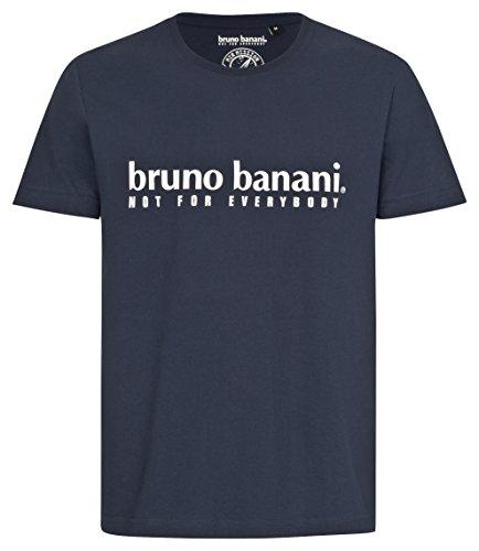 bruno banani Herren T-Shirt, Rundhals in Marineblau, Größe XL