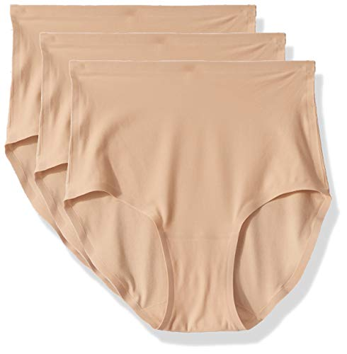 Chantelle Women's Soft Stretch One Size Seamless Brief (3-Pack), Ultra Nude, OS