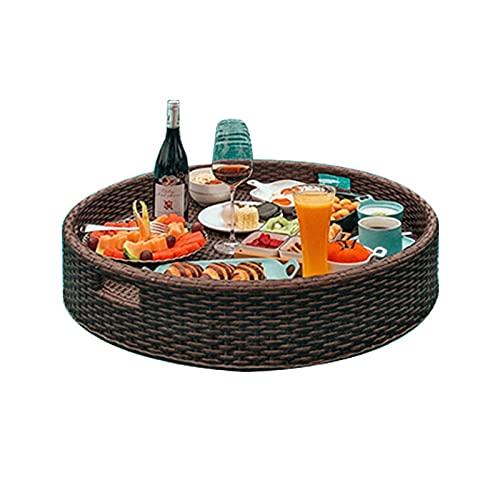 PANJAZE Bandejas de sirviendo flotantes Barra de mesa redonda, bandeja flotante, flotadores de piscina, para barras de arena, spas, baño y fiestas  Bandeja flotante para piscina Sirviendo bebidas, bru