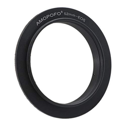 EOS-52mm - Anillo inversor para Canon EOS 70D, 77D, 80D, 10D, 20D, 30D, 50D, Mark II, 5D Mark III, 5D Mark IV, 5DS,5DS R, 6D, 6D Mark II, 7D
