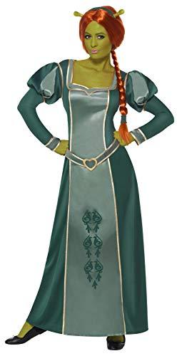 Smiffys Licenciado oficialmente Costume Shrek Fiona, Vert, avec robe, perruque et bandeau