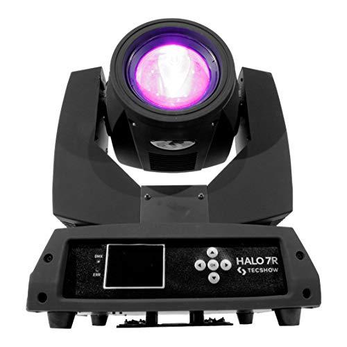 HALO7R   Cabeza Beam, Lámpara YODN® 7R 230W, 14 filtros dicroicos, 17 gobos, prisma de 8 caras - Stock en España