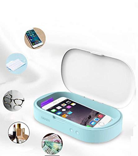 UV Handy Sterilisator Box, Aromatherapie-Funktion 3Min Desinfektionsbox mit UV-Licht zum Kopfhörer, Zahnbürste, Brille, Schnuller, Schlüssel, Puderquaste