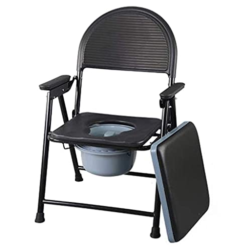 Home Commode Chair Toilet Chairhandicap Toilet Seat Multifunctional Shower Bench Chair Safety Steel Frame with Bucket/lid Padded