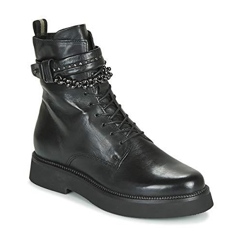 MJUS TRIPLE STRAP Enkellaarzen/Low boots dames Zwart Laarzen