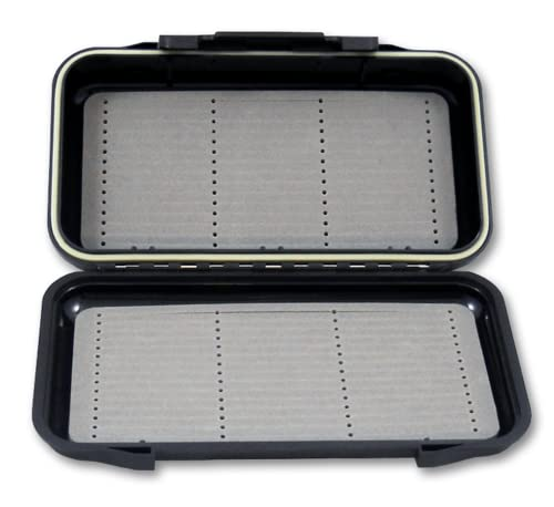 New Phase - Fly Fishing Box Double Sided - Ice fishing Box - Grey - Holds Hundreds of Flies and Streamers