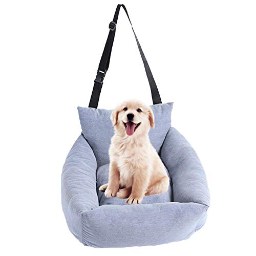 DORA BRIDAL Dog Car Seat Pet Booster Seat Pet Travel Safety Car Seat with Clip-on Safety Leash Dog Bed for Car with Detachable Mat Safe and Comfortable for Small to Medium Dogs Cats