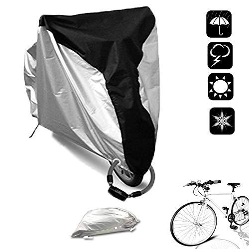 SAVICOS Bike Cover Outdoor Waterproof Bicycle Storage Cover Dust Sun Rain UV Wind Proof with Lock-Holes for Mountain Bike, Road Bike,Motorcycle