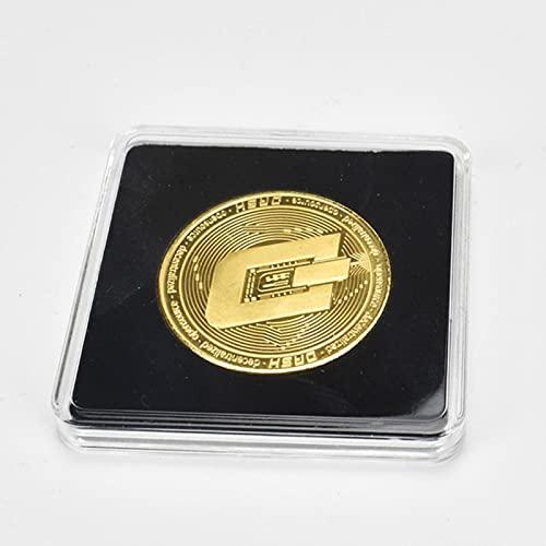 Wefeelm Moneda chapada en oro Bitcoin Bit Litecoin Ondulación Conmemoración Moneda Metal...