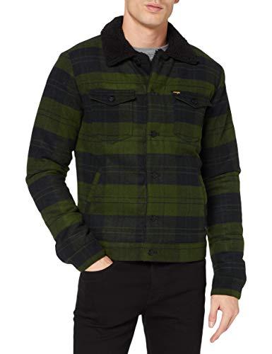 Wrangler The Trucker Giacca, Verde Fucile, XL Uomo