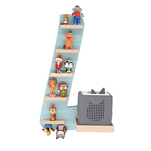 """BOARTI Kinder Regal Buchstabe """"L"""", small in Lindgrün - geeignet für die Toniebox und ca. 18 Tonies - zum Spielen und Sammeln"""