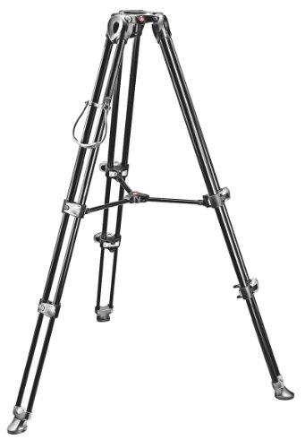 Manfrotto Aluminium Teleskop Doppelrohr Stativ MVT502AM mit 75 mm Halbschale schwarz