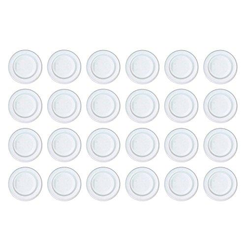 Dosen-Zentrale Züchner Twist-off-Deckel, pasteurisationsfest, uni, 43 mm, weiß (24er Pack)