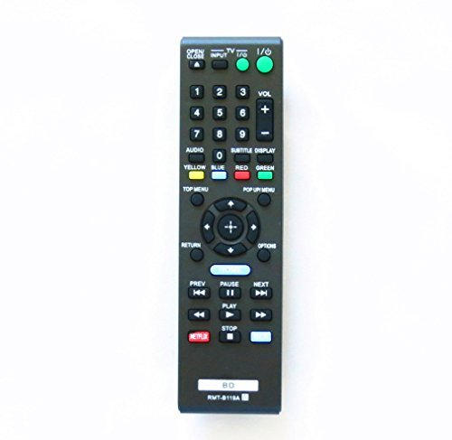 LuckyStar Replacement Remote Control for Sony BD Blue Ray DVD Player RMT-B119A Support For BDp-bx59 BDp-s390 BDp-s590 BDp-bx110 BDp-s1100 BDp-s3100 BDp-bx310 BDp-bx510 BDp-s5100 BDp-bx510 BDp-s5100