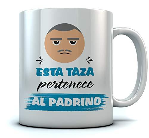 Tazas Bonitas con Frases y Dibujo - Taza De Desayuno para Familia - Regalo Padrino Original - Esta Taza Pertenece al Padrino