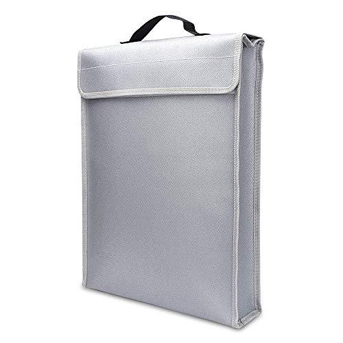 QKP Tragbare Feuerfeste Dokumententasche Inhaber Beutel Home Office Safe Bag Fire & Water Resistant Dateiordner Sichere Lagerung Für Laptop Schmuc